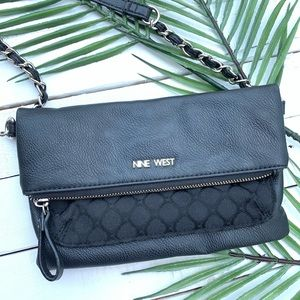 NIne West Black Cross Body Purse